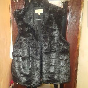 Brand New Michael Kors Mink Faux Fur Vest